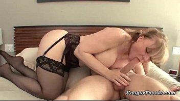 Nina hartleys sexy tanlines - Sexy blonde cougar gets nailed hard