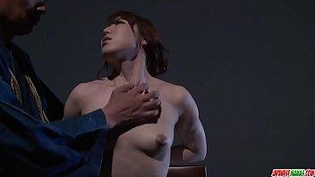 Rina Uchimura gets pussy stimulated in raw bondage - More at Japanesemamas com 12 min