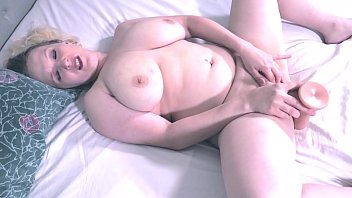 17672 Pretty pussy MILF solo masturbation, then suck and fuck camera man, big cum shot.  Sexy Vickie preview
