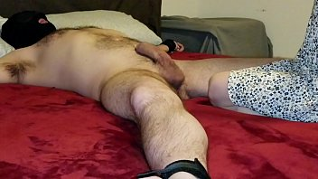 Sexy step daughter finds dad all tied up and decides to have some naughty fun with him!