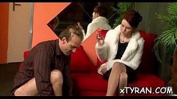 Guy gets spanked - Stud gets spanked by goddess