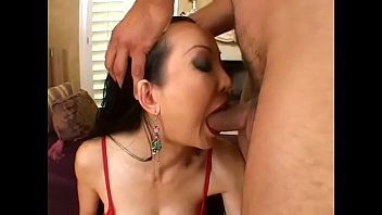Lucky young stud gets his cock rode by horny Asian cougar Ange Venus
