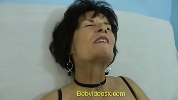Short hair old mature slut clips Eliane 71 years ass fucked by a young black