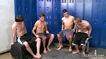 Gay college circle jerk - Time for the bukkake