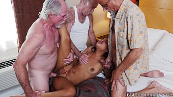Girls fucking old men fantasy Teen gangbanged by grandpas