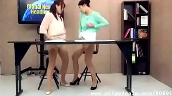 Frantic Wet Horny Japanese Lesbian Slutty Newsreaders