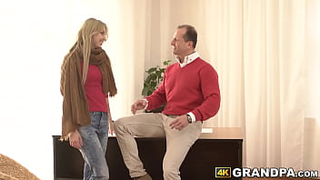 Youthful vixen pounded passionately by handsome older man