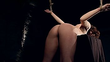 Sexy Zafira White, tied and trained. Part 1. 16 min