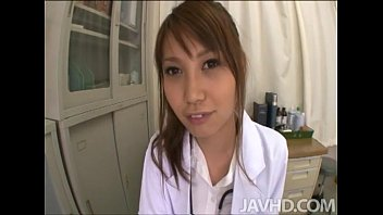 Adorable Japanese nurse Ebihara Arisa loves her job and all the horny patients s