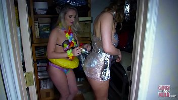 GIRLS GONE WILD - A Wardrobe Malfunction At The Party Leads To Some Great Lesbian Action