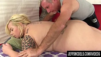 Beautiful Young Plumper Blond Dream Has Her Desires Sated by an Old Masseur