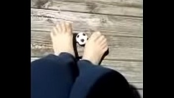 Foot Soccer With Nude Nylon Stockings 1