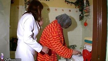 OldNanny Sexy nurse shower granny, Granny with grandpa have sex
