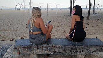 Sacanagem in Copacabana Novinha Lunna Real and Monique Lopes with Dj Jump