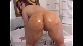 German redhaired big booty floozie Katja Kassin was not satisfied with uasual backdoor work and facial cumshot, she needs huge dildo destroying her buttonhole and maple syrup flown into her gaping ass as anal creampie
