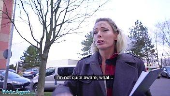 Public Agent Blonde Ozzie Isabelle Deltore fucks to save the bush thumbnail