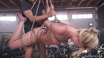 Tied up and hanged blonde rough banged pornhub video