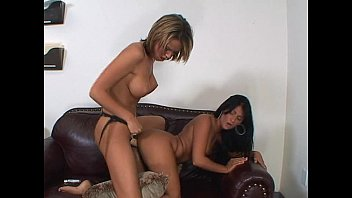 Lesbian strap on intercourse porn Dirty lesbian whores strap on fucking