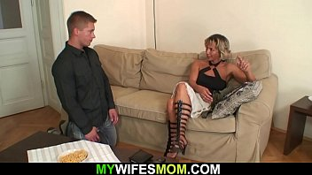Hot blonde mother-in-law