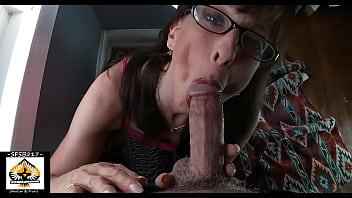 Milf Wearing Glasses Sloppy Blowjob Lots Of Cum 9 min