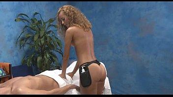 Girl with nice gazoo gives massage
