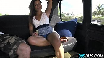 Hot amateur babe with braces and amazing ass Chichi Medina on 305bus 1.3