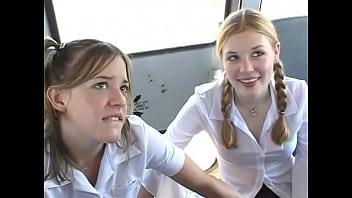 In The Schoolbus-2 cute schoolgirl blow and fuck . HD