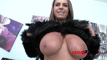 Busty MILF Sexy Susi double anal addiction 100% anal   swallow 60 sec