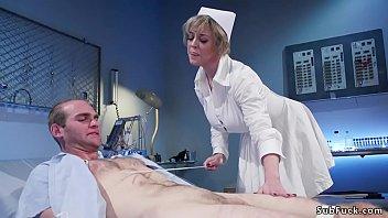 Milf nurse rides face to male patient