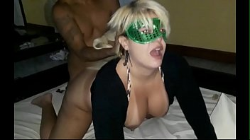 Brazilian Blonde Big ass Milf cheating her husband at motel room with 2 bbc