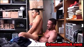 Asian Criminal Fucked by bear cop- CriminalDick.com