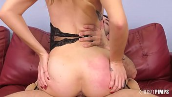 Blonde Babe Masturbates and Deepthroats A Hard Cock Before Rough Sex