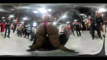VR video of a booty shake at the VR Novels booth at EXXXotica NJ 2019