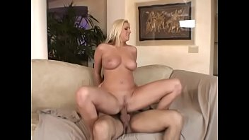 Dick sprays jizz on blonde milf Emilliana titties