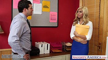 Busty blonde Gemma Jolie gets nailed in the office 8 min