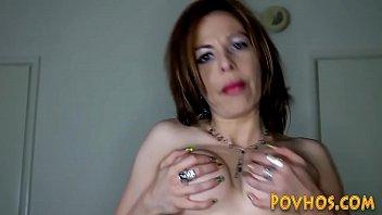 Busty whore pov riding and sucking cock and masturbating