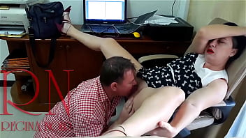 Security camera in office Lady boss and employee Pussy lick Hidden cam Hidden camera Voyeur 3