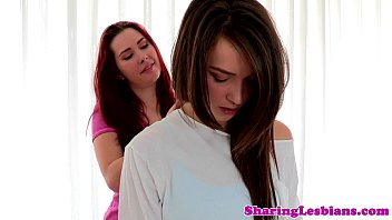 Lesbian yoga babes rimming close up 8 min