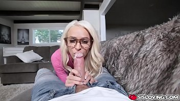 Stepsis rubs her clit on stepbros cock and slipped it in!