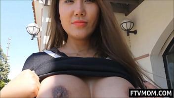 Asian Milf Flashing Big Tits