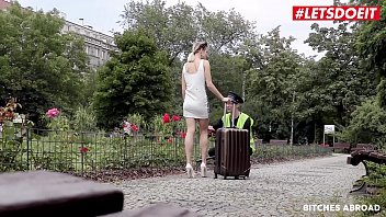 Letsdoeit - Czech Tourist Ria Sun Gets Caught And Fucked By Dirty Policeman