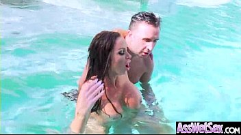 Big Butt Girl (Nikki Benz) Get Oiled All Over And Hard Anal Nailed clip-24