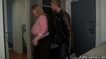 Huge boobs chubby blonde rides cock after massage