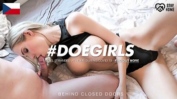 DOEGIRLS - #Florane Russell - Homemade Sex Fun On Quarantine With A Czech Busty Babe And Her Real Boyfriend