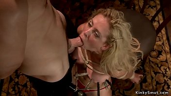 Tied MILF rough banged and cummed