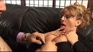 Secretary panting and enjoying HD