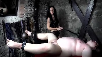 Mistress Isobel Brutally Canes Her Slave'_s Bare Ass!