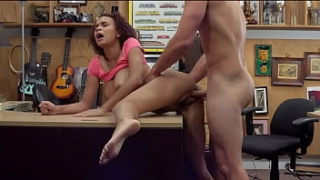Raven Redmond Taking Big Cock In Pawn Shop Backroom To Pay The Light Bill