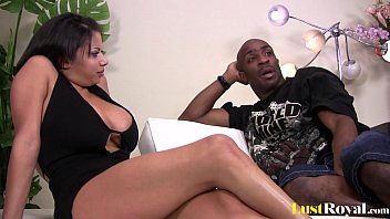 Big tits Alexis loves riding a black cock 13 min