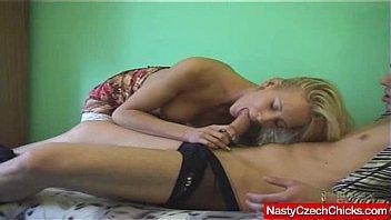 Pornstar Justine Ashley sucks and fucks huge dick 6 min